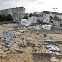Le chantier de fouilles de l'Hôtel-Dieu