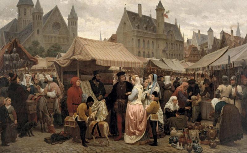 Une Foire à Gand au Moyen-Âge, Félix de Vigne, 1862