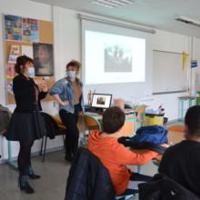 Les chimères et leurs habitats, rencontre et ateliers au collège de la Binquenais