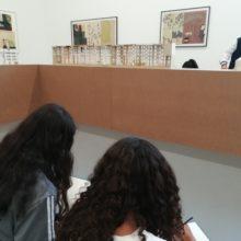 Atelier de dessin des maquettes avec les collégiens de la Binquennais